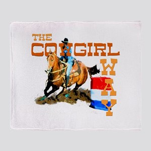 The Cowgirl Way Gifts & Tees Throw Blanket