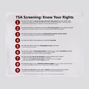 Know Your TSA Rights Throw Blanket