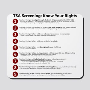 Know Your TSA Rights Mousepad