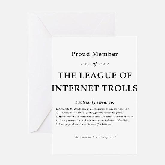 League of Internet Trolls Greeting Card