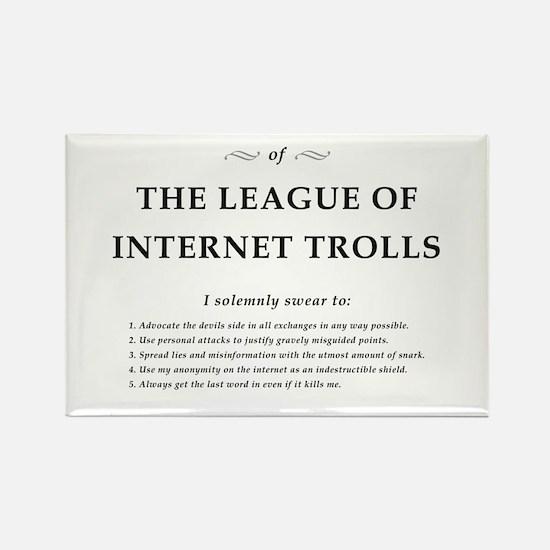 League of Internet Trolls Rectangle Magnet (10 pac
