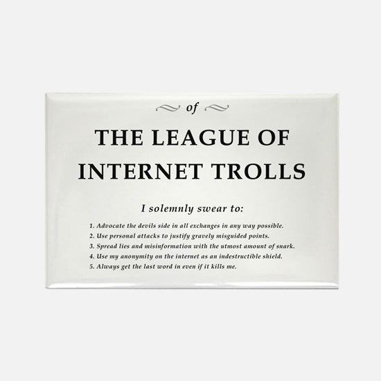 League of Internet Trolls Rectangle Magnet
