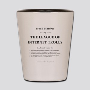 League of Internet Trolls Shot Glass