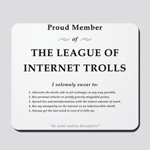 League of Internet Trolls Mousepad