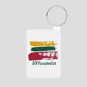 Lithuania Aluminum Photo Keychain