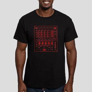 DJ mixer (vintage effect) Men's Fitted T-Shirt (da