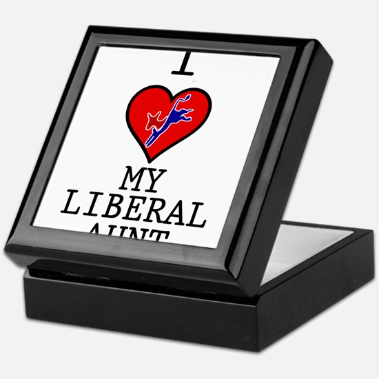 I Love My Liberal Aunt Keepsake Box