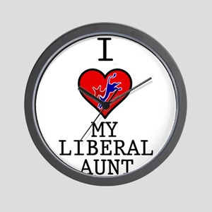 I Love My Liberal Aunt Wall Clock