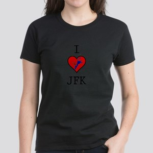 I Love JFK Women's Dark T-Shirt