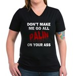 Palin 2012 Women's V-Neck Dark T-Shirt