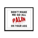 Palin 2012 Framed Panel Print