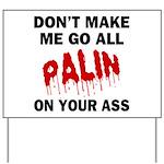 Palin 2012 Yard Sign
