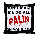 Palin 2012 Throw Pillow