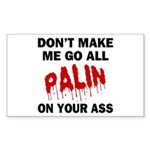 Palin 2012 Sticker (Rectangle)