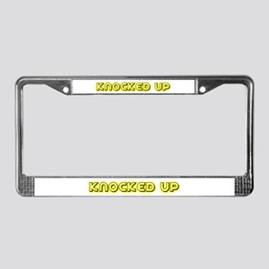 Knocked up (glowing) License Plate Frame