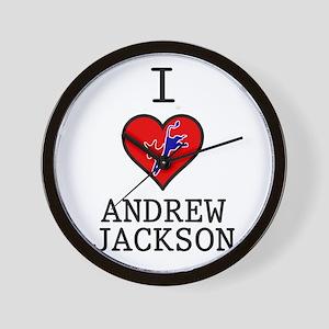 I Love Andrew Jackson Wall Clock