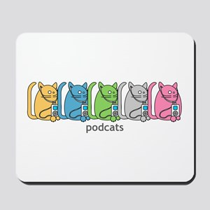 Podcats iPod Podcast Cat Humor Mousepad