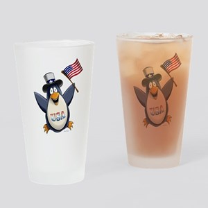 American Penguin Drinking Glass