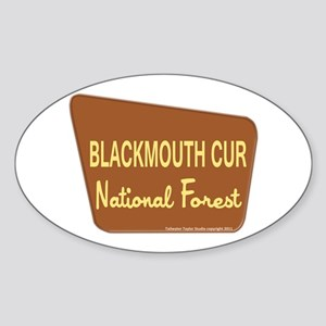 Blackmouth Cur Sticker (Oval)