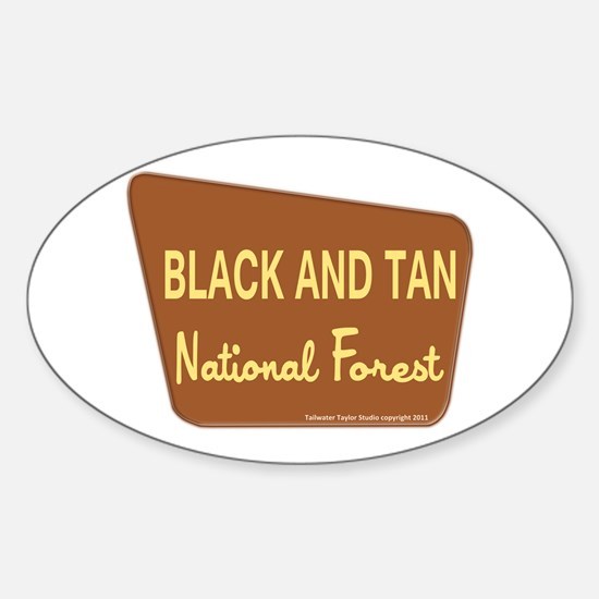 Black and Tan Sticker (Oval)