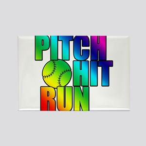 Girls Softball Rectangle Magnet