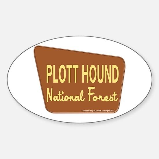Plott Hound Sticker (Oval)