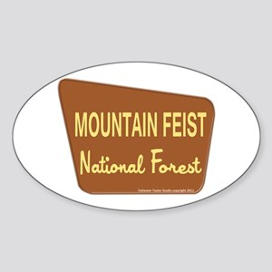 Mountain Feist Sticker (Oval)