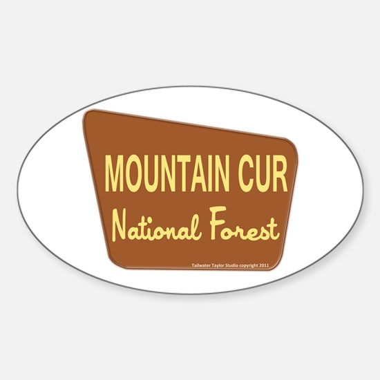 Mountain Cur Sticker (Oval)