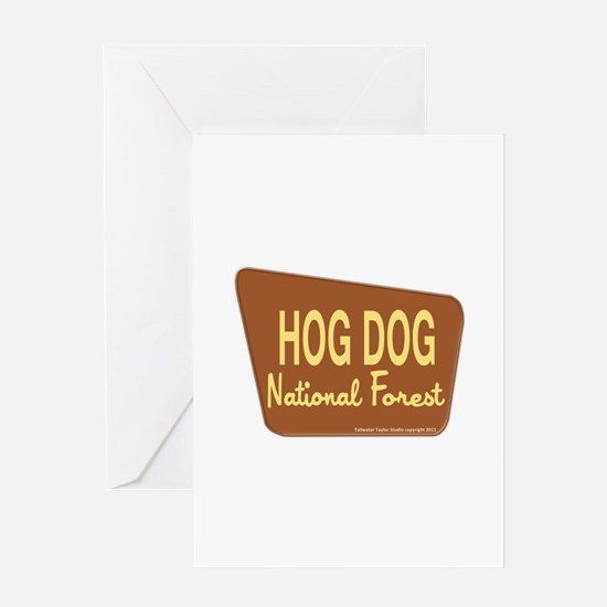 Hog Dog Greeting Card