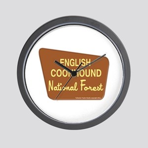 English Coonhound Wall Clock