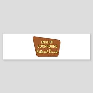 English Coonhound Sticker (Bumper)