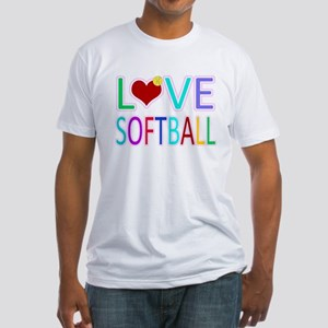 LOVE SOFTBALL Fitted T-Shirt