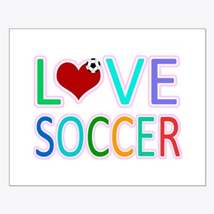 LOVE SOCCER Small Poster