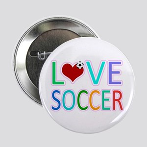 """LOVE SOCCER 2.25"""" Button (10 pack)"""