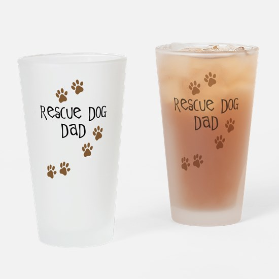 Rescue Dog Dad Pint Glass