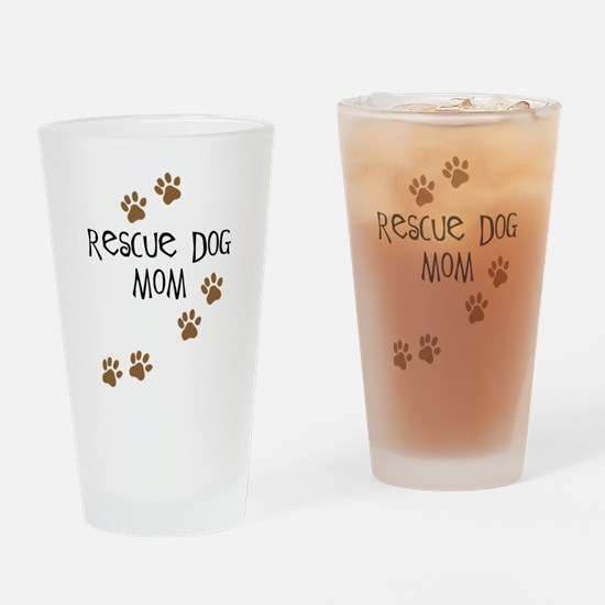 Rescue Dog Mom Pint Glass
