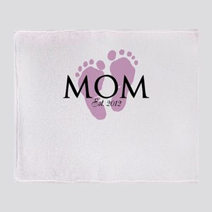 New Mom Customizable Year Throw Blanket