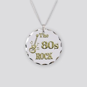 80s Rock Necklace Circle Charm