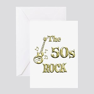 50s Rock Greeting Card