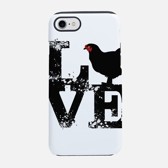 Love T Shirt, Chicken T Shirt iPhone 7 Tough Case