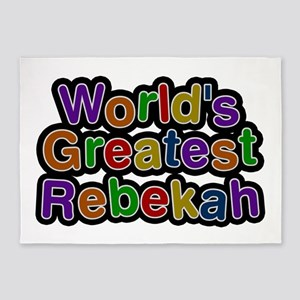 World's Greatest Rebekah 5'x7' Area Rug