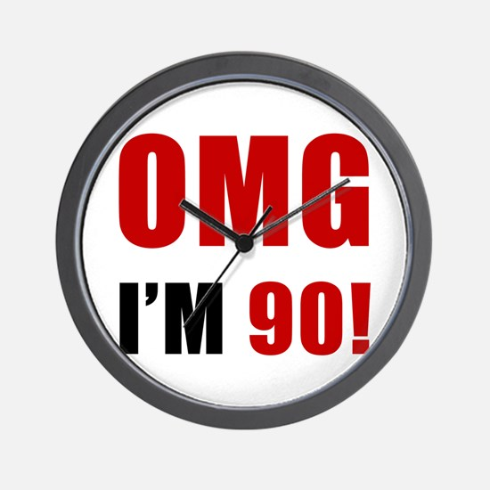OMG 90th Birthday Wall Clock