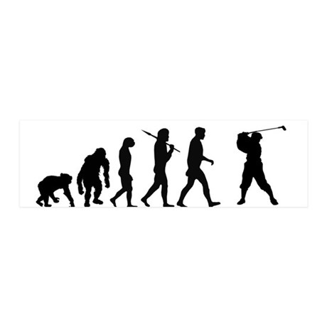 Evolution Of Golf 42x14 Wall Peel