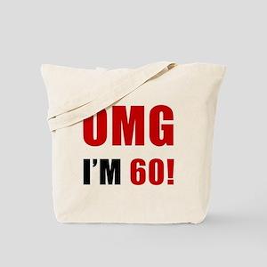 OMG 60th Birthday Tote Bag