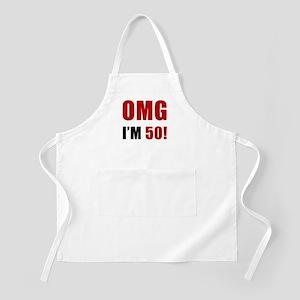 OMG 50th Birthday Apron