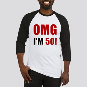 OMG 50th Birthday Baseball Jersey