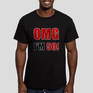 OMG 50th Birthday Men's Fitted T-Shirt (dark)