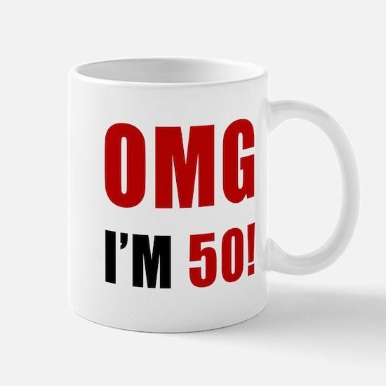 OMG 50th Birthday Mug