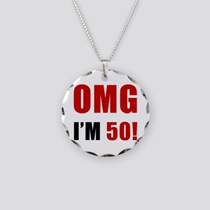 OMG 50th Birthday Necklace Circle Charm