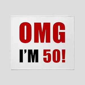 OMG 50th Birthday Throw Blanket
